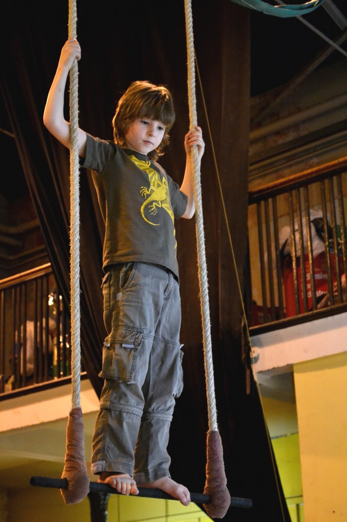 A Young Member on Trapeze