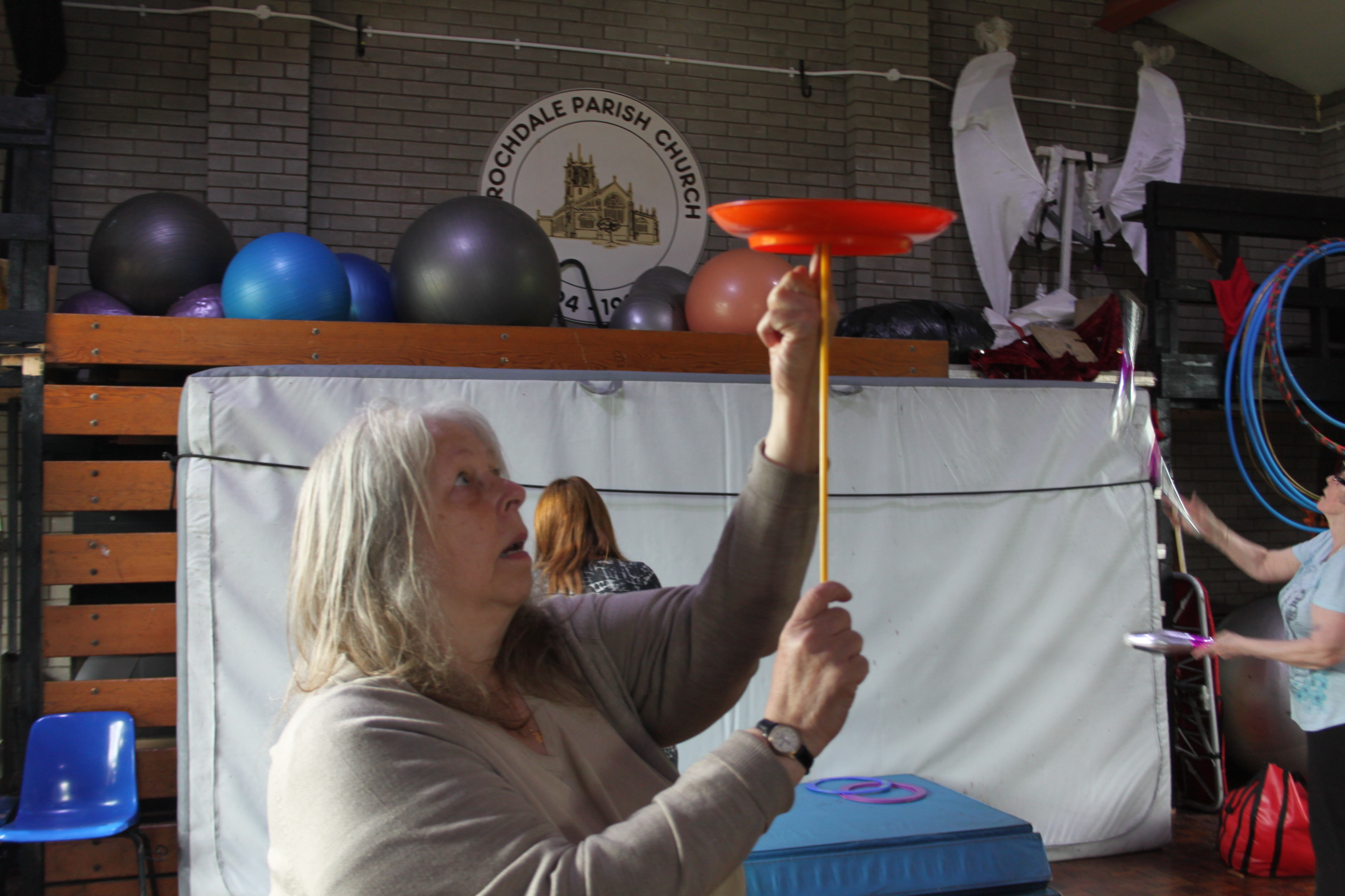 Skylight Circus Silver Circus Workshop for over 65's