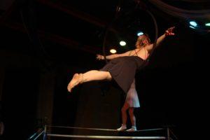 Skylight Circus performing aerial hoop