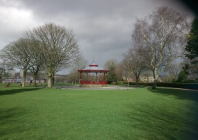 HLF funded Skylight Circus Arts - Rochdale Band Stand in Broadfield Park